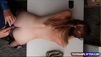 Shoplyfter Teen Inspected Deep and Thoroughly For Stealing