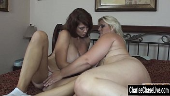 Blonde BBW Makes Big Tit Charlee Chase Cum!  #6138
