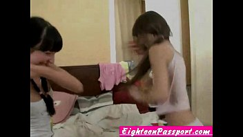 Hot teen twins doing lesbian sex