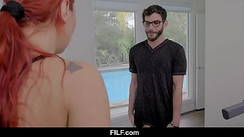 FILF - Athletic redhead mom Savana Styles gives her stepson's cock a workout.