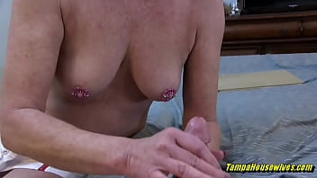 she stretches out the tease to get a creampie conclusion