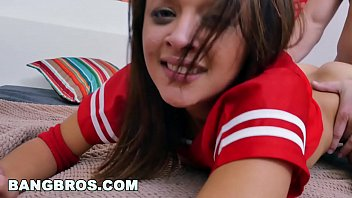 Teen holly hendrix swallows after taking it up the ass on bangbros18