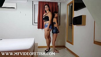 2 slave girls sucking big muscle ass and...