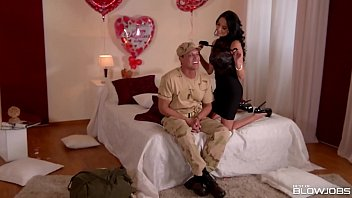 thumb Best Blowjob After Army Duties With Abbie Cat And Anissa Kate