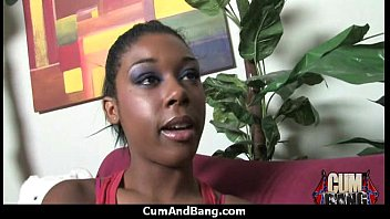 Ebony chick hard fuck in interracial group 28