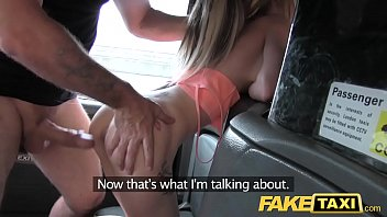 Slim blonde amateur fucked by fake taxi driver