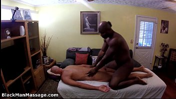 My black wife massages man