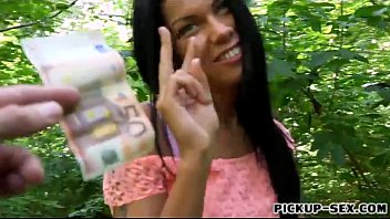 Eurobabe sofia like fucked in the woods