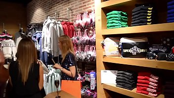 Young college girl at superdry store belgium whant...