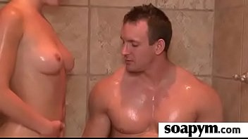 Soapy big tits lead to erotic massage 2