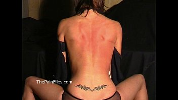 Busty Danii Blacks breast whipping and bareback hellpain spanking of fit blindfo