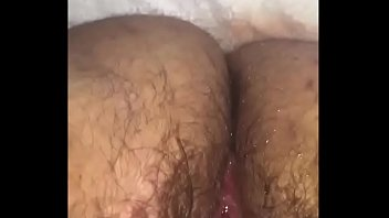 Fingering a BBW'_s Hairy Pussy to a Squirting Mess