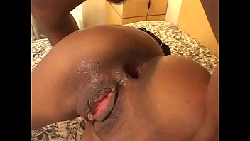 Black shaved pussy is fucked hard