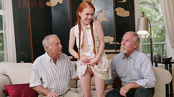 BLUE PILL MEN - Old Men Meet Petite Redhead Teen Dolly Little IRL After Chatting Online