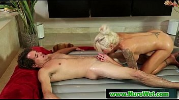 Busty Sexy Babe Gives Nuru Massage And Get Fucked 17