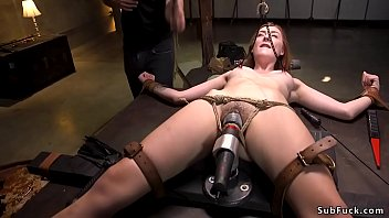 Hot ass natural redhead b. fucked bdsm
