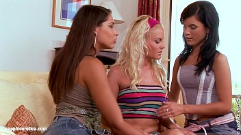 Mesmerizing Trio lesbian threesome with Zafira Jackie and Gina from Sapphic Erot
