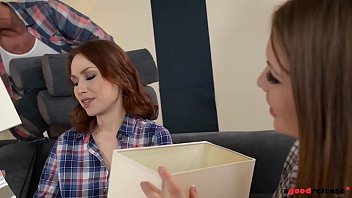 Horny college roomates Alessandra & Macy 1st time Threesome