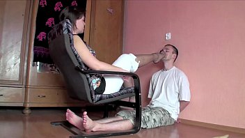 Forced pantyhose feet smelling