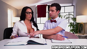 Hot Stepmom Helping Her Horny Stepson With His Home Work - Milf Porn