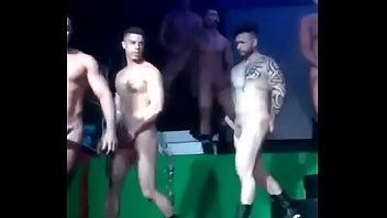 Sexy strippers walking with boners...