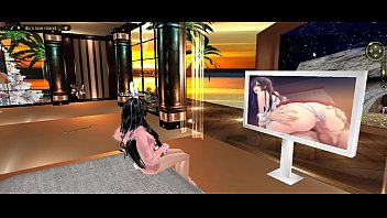 Imvu xxx porn pictures on a screen...