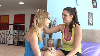 Blonde  Alaina Fox And Brunette Alison Tyler Cuties Are Sucking Each Other's Pussies On Sofa After Playing Basketball