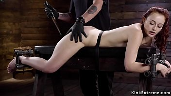 Redhead sub whipped and tormented