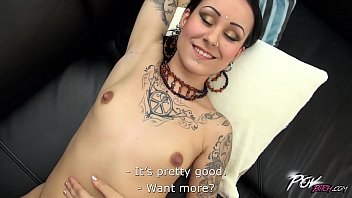 Dirty whore and her first camera audition goes really wild