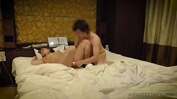 Hotel fun with BEAUTIFUL COLLEGE GIRL using fingers and vibrator
