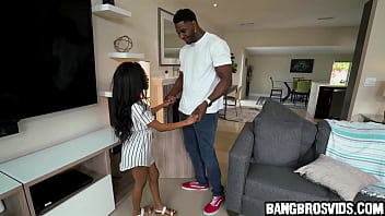 Petite ebony teen gets fucked by monster cock thumbnail