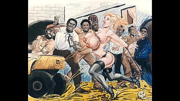 Slaves in cartoon art...