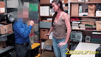 Hot milf Sofie is bent over and drilled by naughty officer