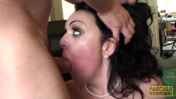 Posh british skank doggystyled after messy bj