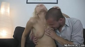 Lusty cheating sex with her BF&#039_s brother
