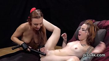 Cuddly lesbian cuties get sprayed with pee and ejaculate wet twats