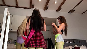 Upskirt, Fishnets, Teens Dancing and having fun at party. Homemade teenie young petite girls dancing at home like crazy with music. Softcore with bodystockings, small thongs, legs. Voyeur Hidden Cams.