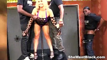 Huge boobs woman Sarah Vandella dped by big black cocks