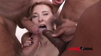 Redhead Linda Sweet Drinks Anal Creampies After Fucking