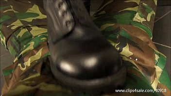 Dominant cop traples and spits at slave 094...