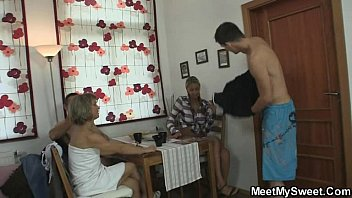 Hot threesome orgy with his family