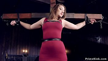 Handcuffed To Cross Brunette Tormented