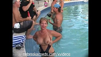 video party naked Uncensored pool