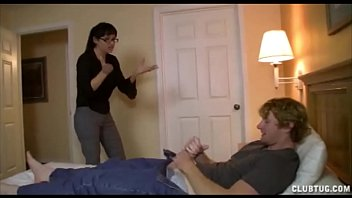 His hot step mom is pissed punishes him...