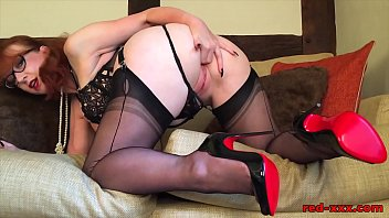 Dirty talk and fingering with mature Red XXX