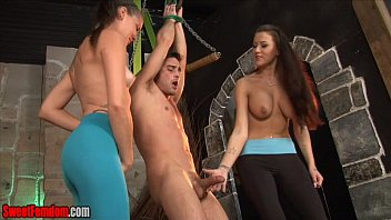 Alexis Grace and Michelle Peters Ballbusting CBT Femdom  #118137