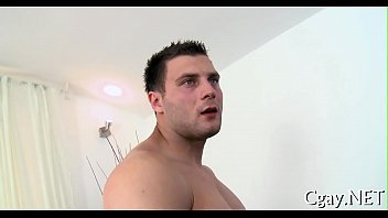 Obscene oral service for lusty gay...