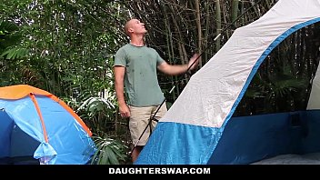 DaughterSwap- Horny Daughters (Alyssa Cole) (Haley Reed) Fuck Dads on Camping Trip thumbnail