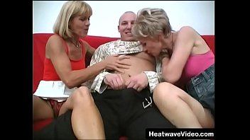 Lucky guy fucks two older moms