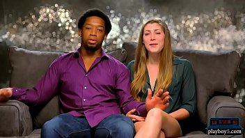 Interracial couple finds blonde for their first threesome